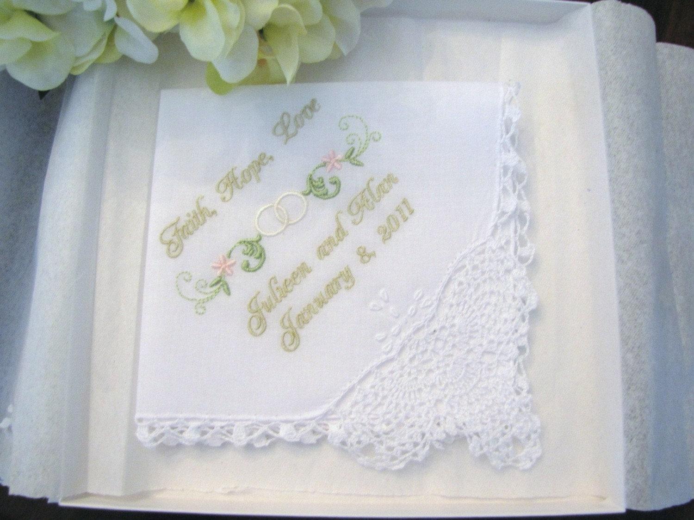 Personalized Bridal Wedding Handkerchief By Mollyandmom On