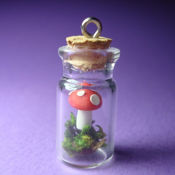 Enchanted Forest In A Jar Pendant