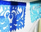 SALE . Ready-made LOVEBIRDS (3-pack) Papel Picado Banners