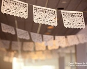 Personalized Papel Picado - sets of 2 banners - DOS PALOMAS Custom Color Mexican Wedding Garlands