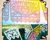 BUNDLE, Dos Palomas papel picado banners and flags
