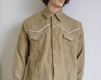 Hermans Hemp  cowboy western shirt XL