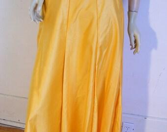Anna Hermans  Orange Cotton Panel full skirt W 25