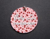 Pink Cherry Pet Tag