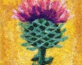 LITTLE THISTLE - Needle Felted Wallhanging