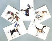 robot animal postcards- set of 5