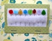 Spring Flower Garden Straight Pin Set