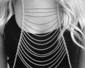 Silver Ladder Body Chain Harness