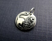 courage lion sterling silver charm