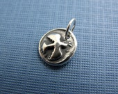 dove of peace sterling silver charm