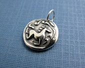 wind horse sterling silver charm