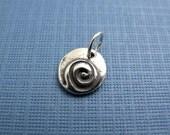 karma wave sterling silver charm