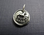 protector dog sterling silver charm