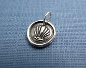 aphrodite mermaid shell sterling silver charm