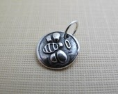 bee angel sterling silver charm