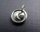crescent moon sterling silver charm