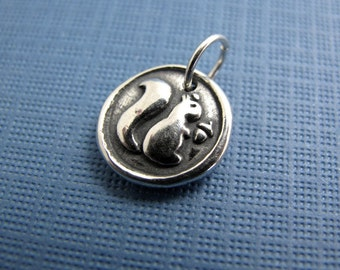squirrel play sterling silver charm