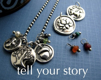 personalized interchangeable and collectible sterling silver charm necklaces