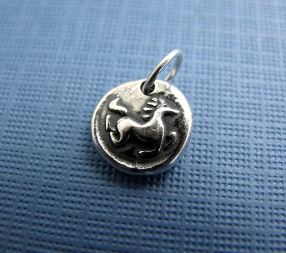 free spirit horse sterling silver charm