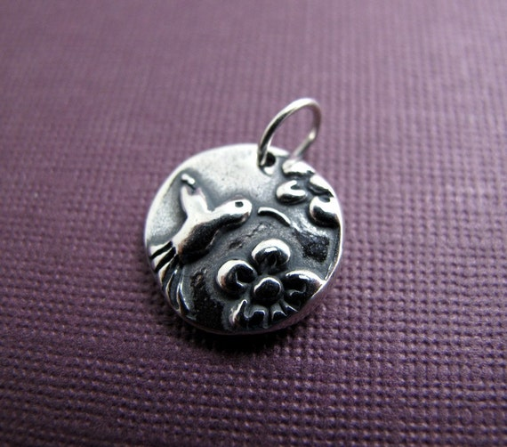 hummingbird messenger sterling silver charm