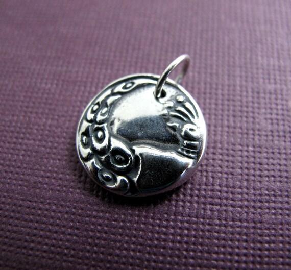 krishna peacock sterling silver charm