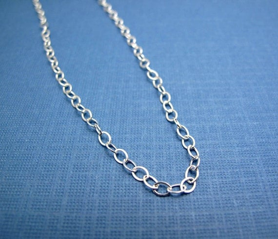 personalized charm necklace adjustable plain sterling silver cable chain