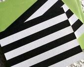 Breton Stripes Note Card Set - Black and White Striped