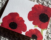 Poppy Note Cards - Big Red Poppies