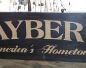 Mayberry America's Hometown Sign