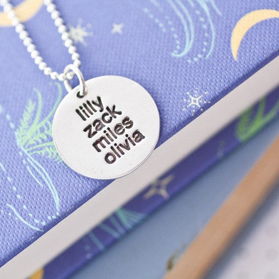 family names...personalized fine silver necklace
