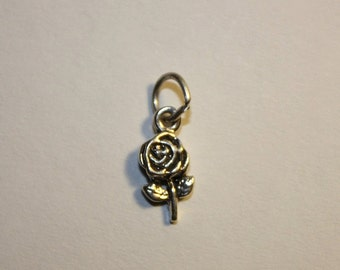 Sterling Silver Rose/Flower Mini Charm