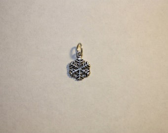 Sterling Silver Large Snowflake Mini Charm