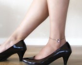 Love in Purple - Anklet with Swarovski Crystals