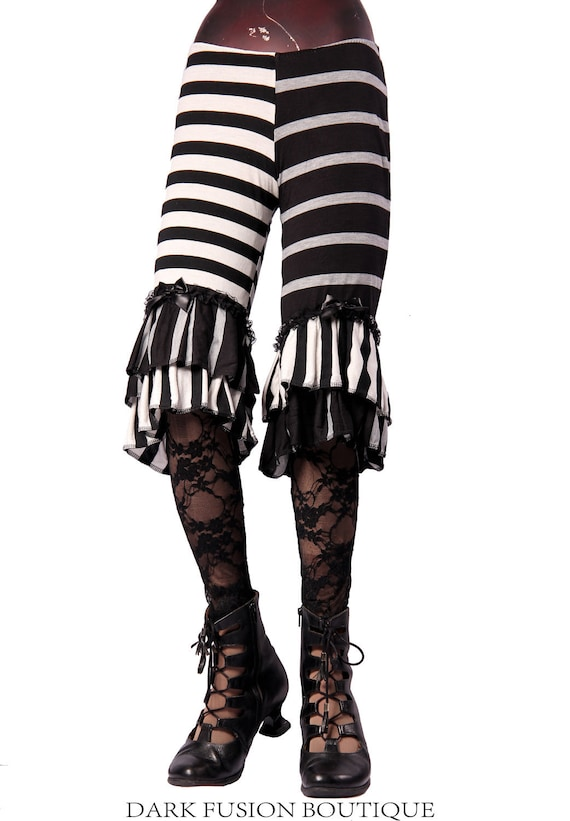 Capris, Ruffles, Stripes, Bloomers, Steam Punk, Tribal, Circus, Bellydance, Goth, Exotic, Dance, Halloween, Dark Fusion Boutique