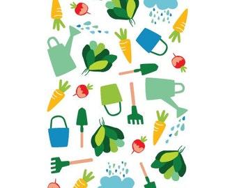 Garden print A4