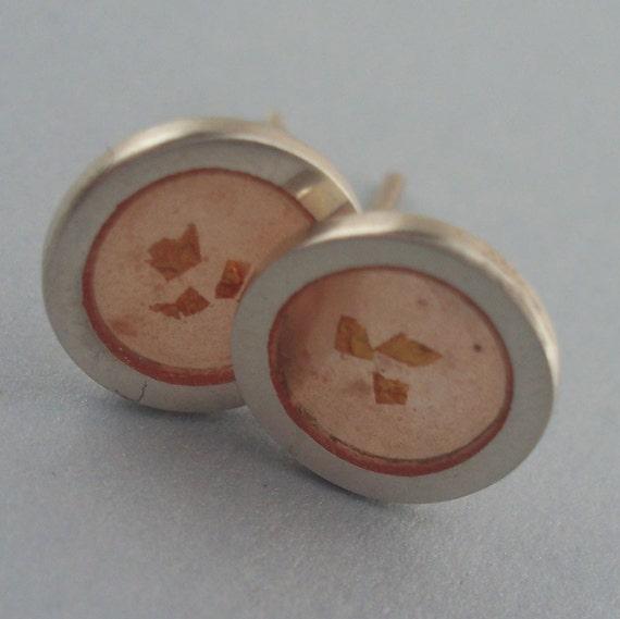 Tiny Gold Dust Earrings