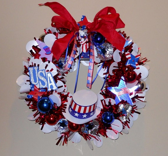 July 4th Patriotic Wreath -Sale