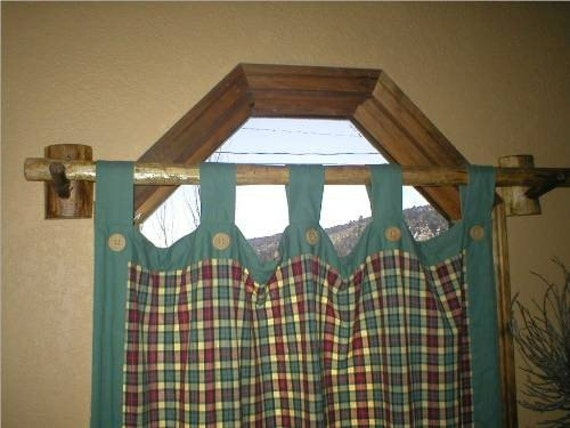 RUSTIC LOG VALANCE CURTAIN ROD COUNTRY CABIN by FromHeartToHand