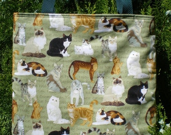 Cat Cats Tote Bag Calico Tabby Persian Siamese Ragdoll Ocicat LIMITED