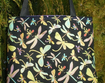 Dragonfly tote bag Dragonflies Handmade Purse Very Limited Supply