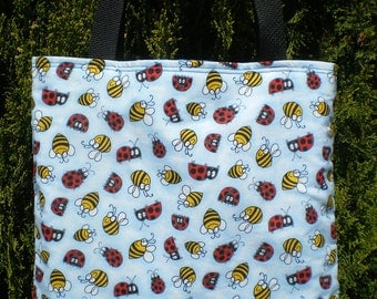 Bee Ladybug Tote Bag Bee's Ladybugs Lady bug Handmade Purse Limited