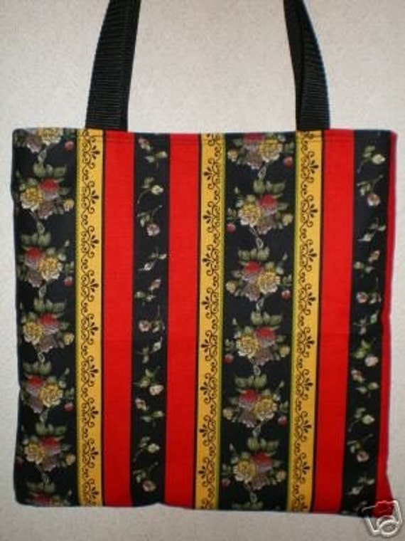 Rose Tote Bag Floral Stripe Scroll Romantic Delicate Last One