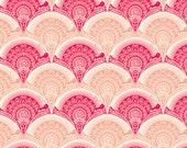 SALE - Snail Scallop/Coral - Prince Charming Collection by Tula Pink - One Half Yard