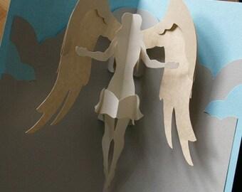 Kirigami Virgo (Angel) Pop-up Card, Make Yourself