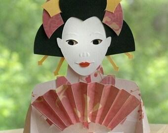 Kirigami Bunraku Geisha Puppet, Make Yourself