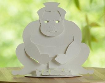 Kirigami Bunraku Sumo Puppet, Make Yourself