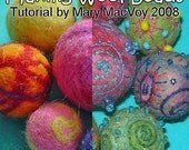 Making Wool Beads Tutorial by Mary MacVoy