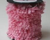 Hand Made Crepe Fringe Pink