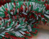 Handmade Red, White, and Green Crepe Fringe