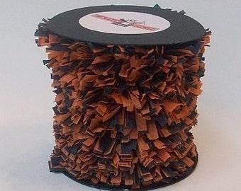 Handmade Halloween Orange and Black Crepe Fringe